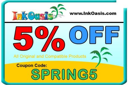 Ink Oasis Spring 2011 5% off Coupon